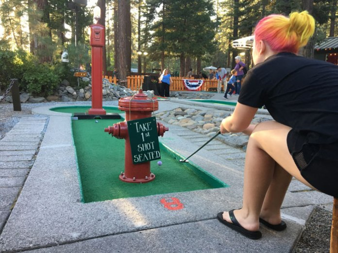 Lots of unique play options are Kings Beach Mini Golf in Lake Tahoe.