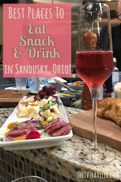 Where to eat in Sandusky Ohio - pin for Pinterest.