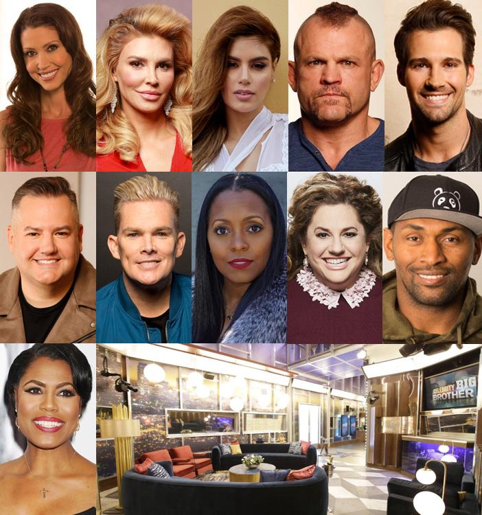 celebrity big brother cast 2018 schedule