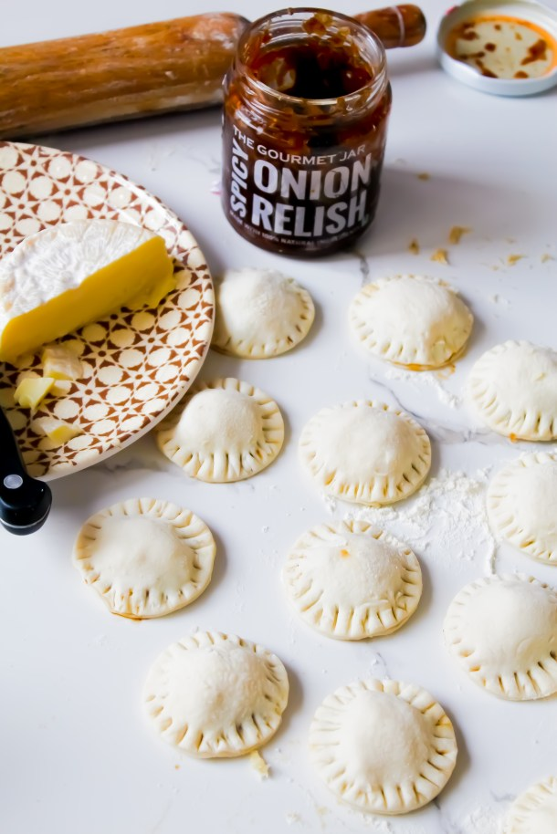Brie and Onion Puffs