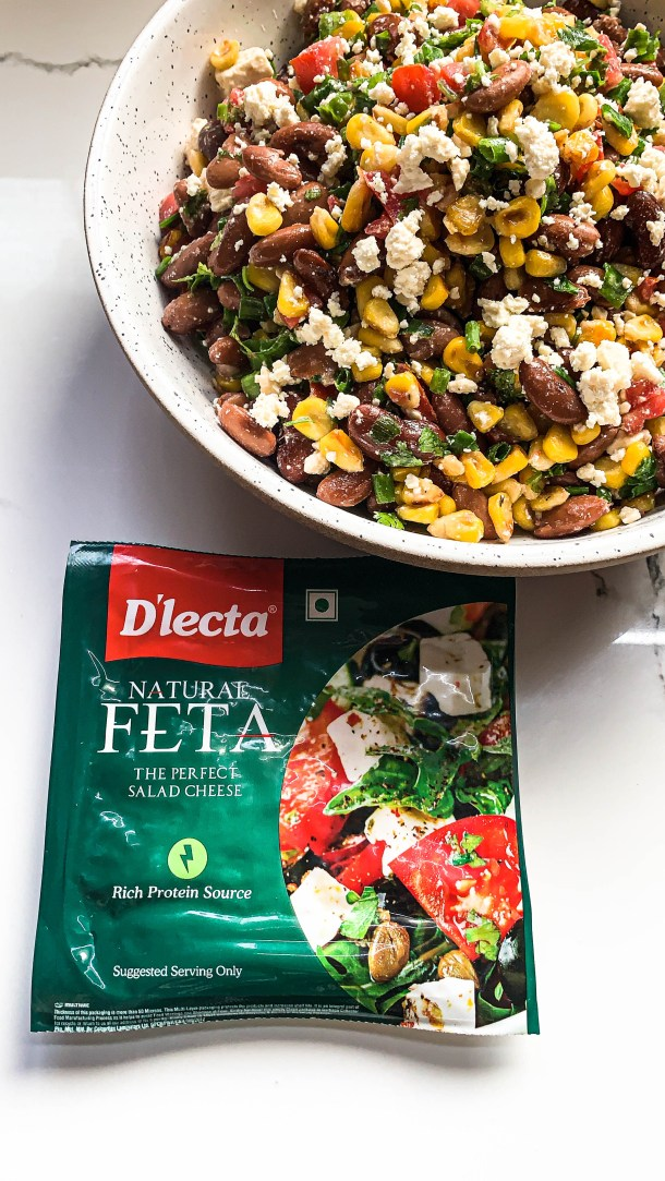 Grilled Corn and Beans Feta Salad