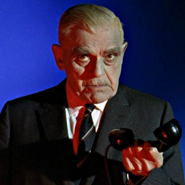 An extremely disappointed Boris Karloff.