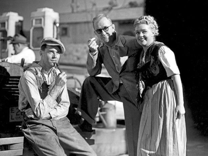 Henry Fonda, John Ford, Dorris Bowdon 1940