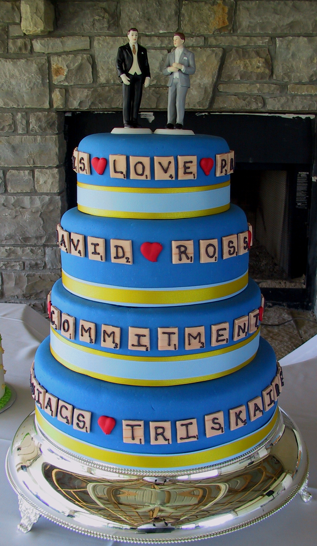 wedding scrabble cake
