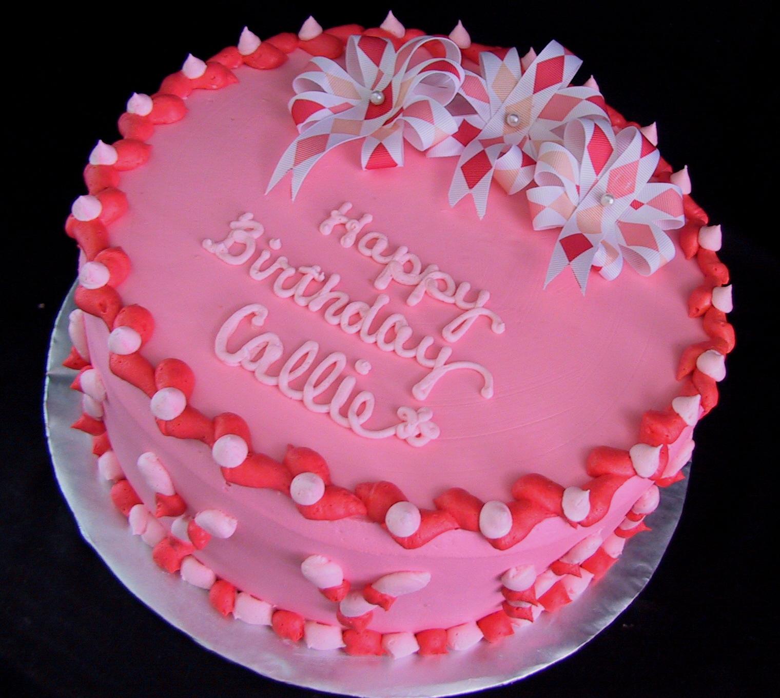 coral pink cake