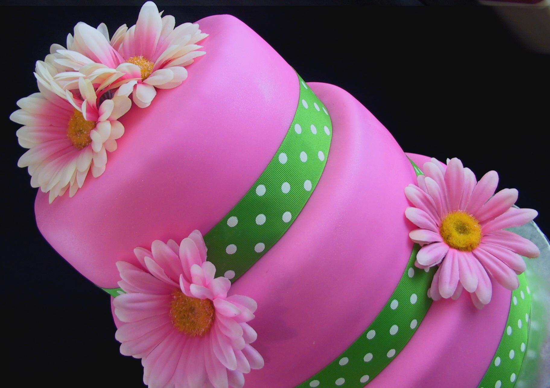 pink gerber cake 2