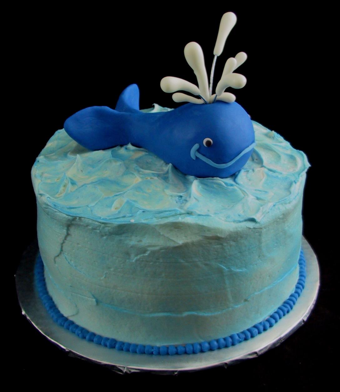 fondant whimsical whale cake