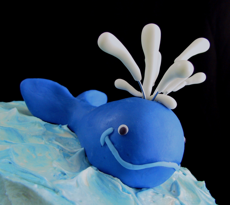 fondant whimsical whale