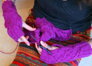 knitting yarn stories cables hat mitts
