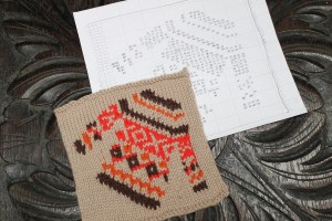 pattern for knitted jumper sweater fair isle motif