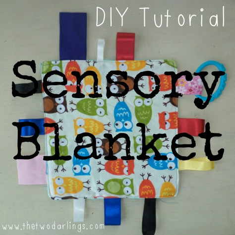 tutorial sensory taggy blanket diy tutorial the two darlings blog fashion beauty
