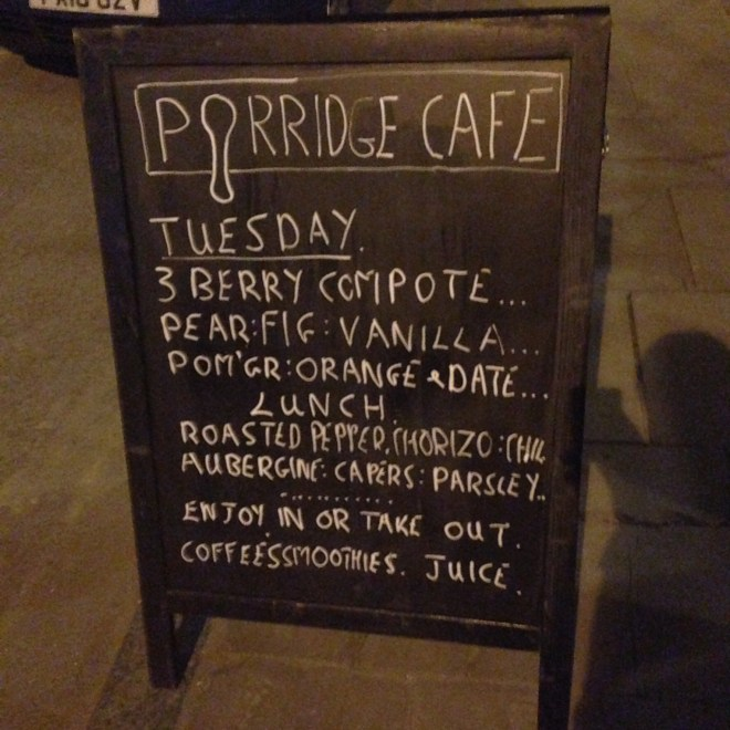 Porridge Cafe Shoreditch London Opening