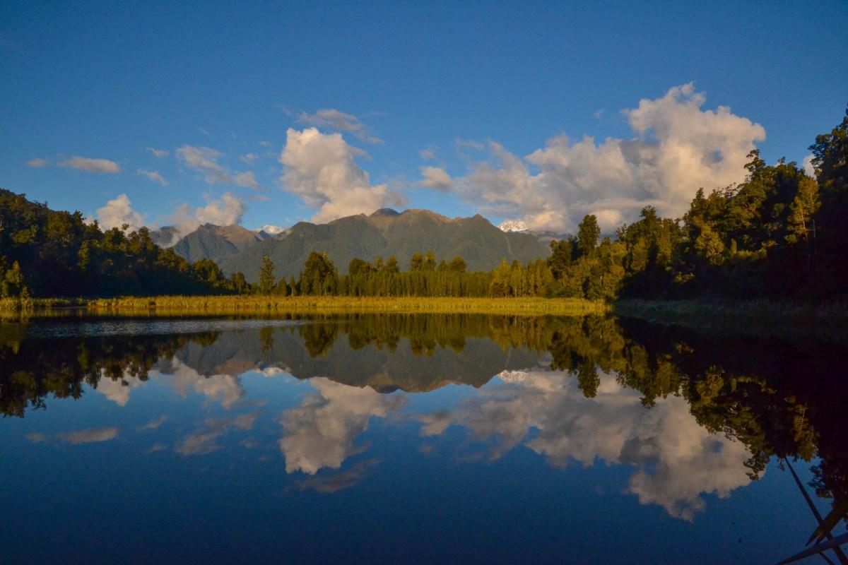 New Zealand Road Trip Tips - Lake Matheson c. Sarah Gibbons