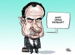 Harper as Nixon