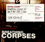 The ticket and program cover for Breathing Corpses
