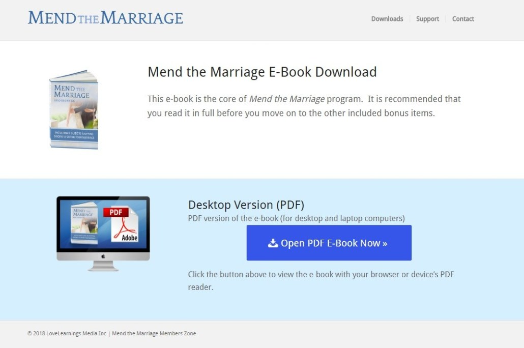 mend the marriage member area