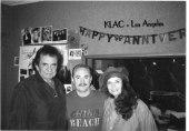 Johnny Cash and June Carter visit me at KLAC. in Los Angeles -1993