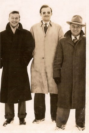 My father, Percy (not Al Capone) on the far right with his buddies.
