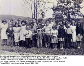 Me and my school mates. Grade 6. I'm the tallest one, to right of the teacher Roddie Francis MacNeil