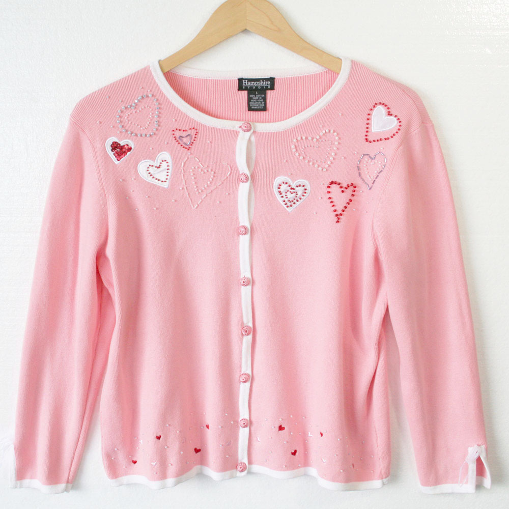 Women Sweater With Hearts