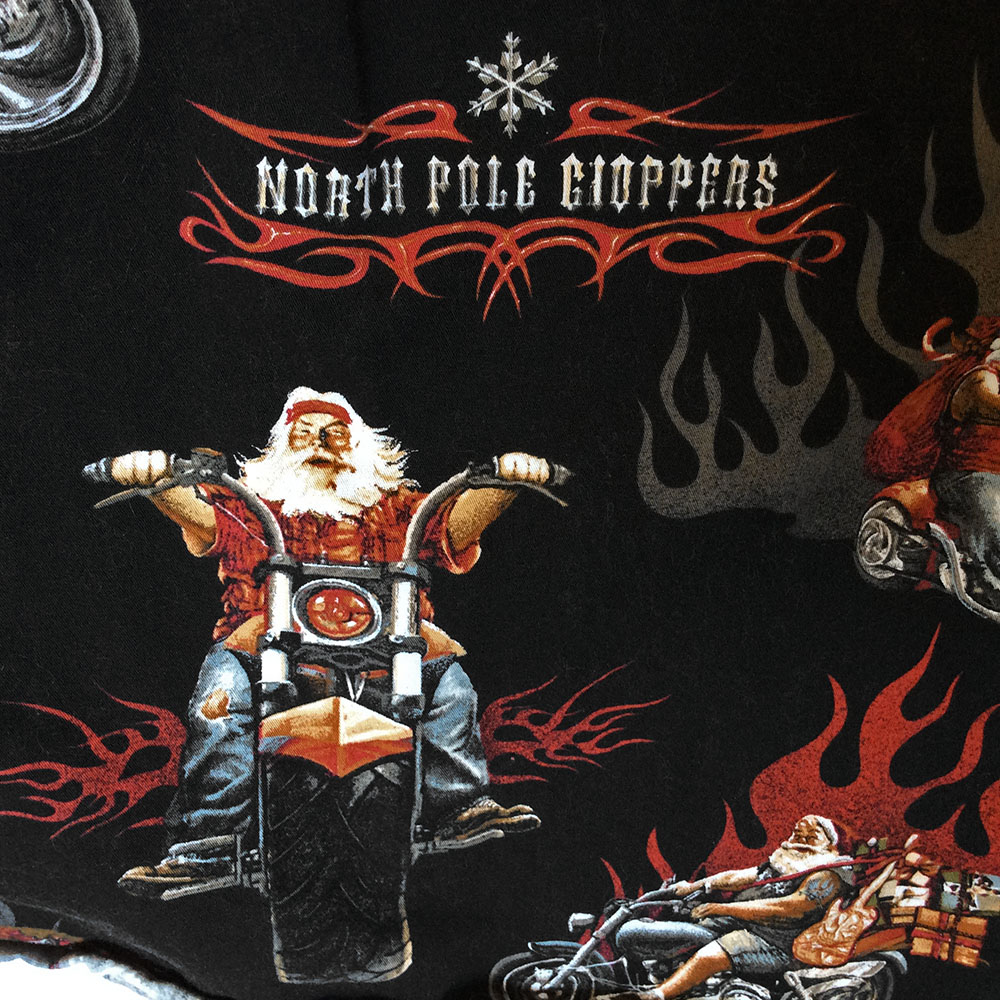 North Pole Choppers Biker Santa Ugly Christmas Shirt The