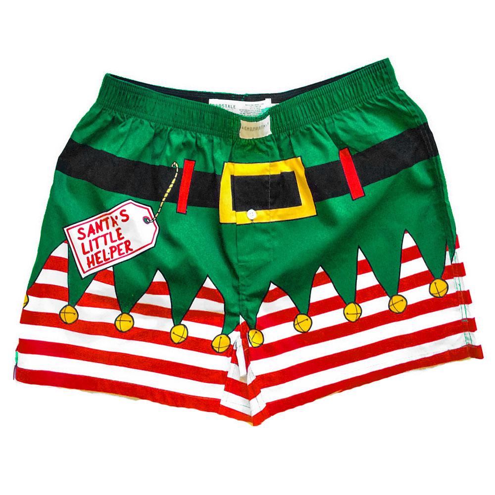 Santas Little Helper Elf Ugly Christmas Boxer Shorts