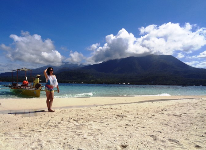 Postcard photo at Camiguin White Island