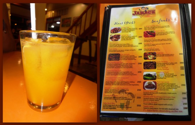 Pineapple juice in can (P50) with Menu