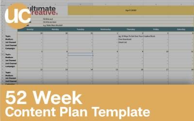 52 Week Content Plan Template