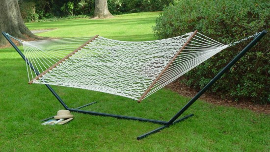 Cotton Rope Hammock with spreader bars