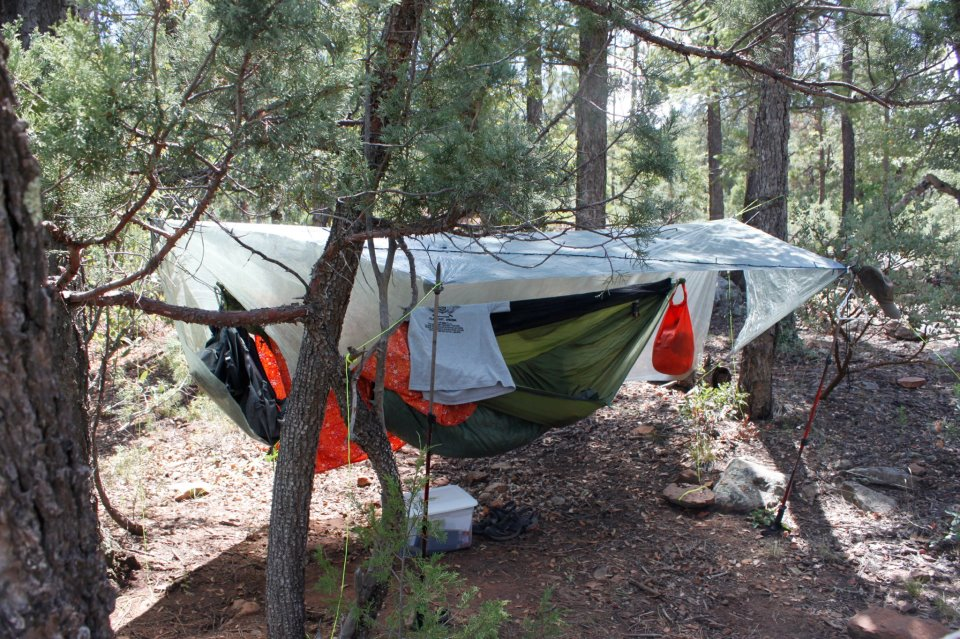 a to camping apr camp ridge with lawson how hammock blue setup