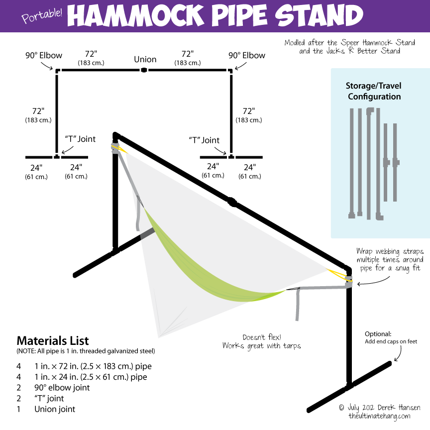 hammock pipe stand