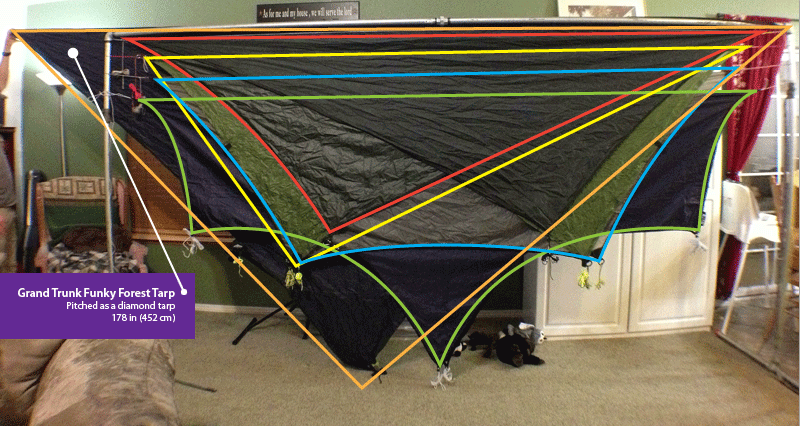tarp  parison pitched hammock tarp coverage  parison   the ultimate hang  rh   theultimatehang