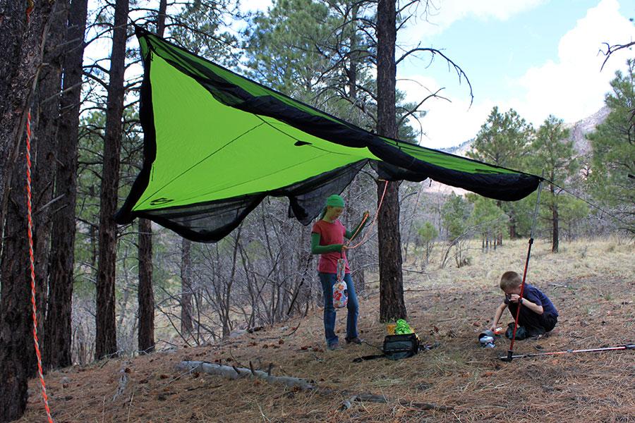 nemo-bugout9x9-setup & NEMO Bugout 9x9 Shelter Review - The Ultimate Hang