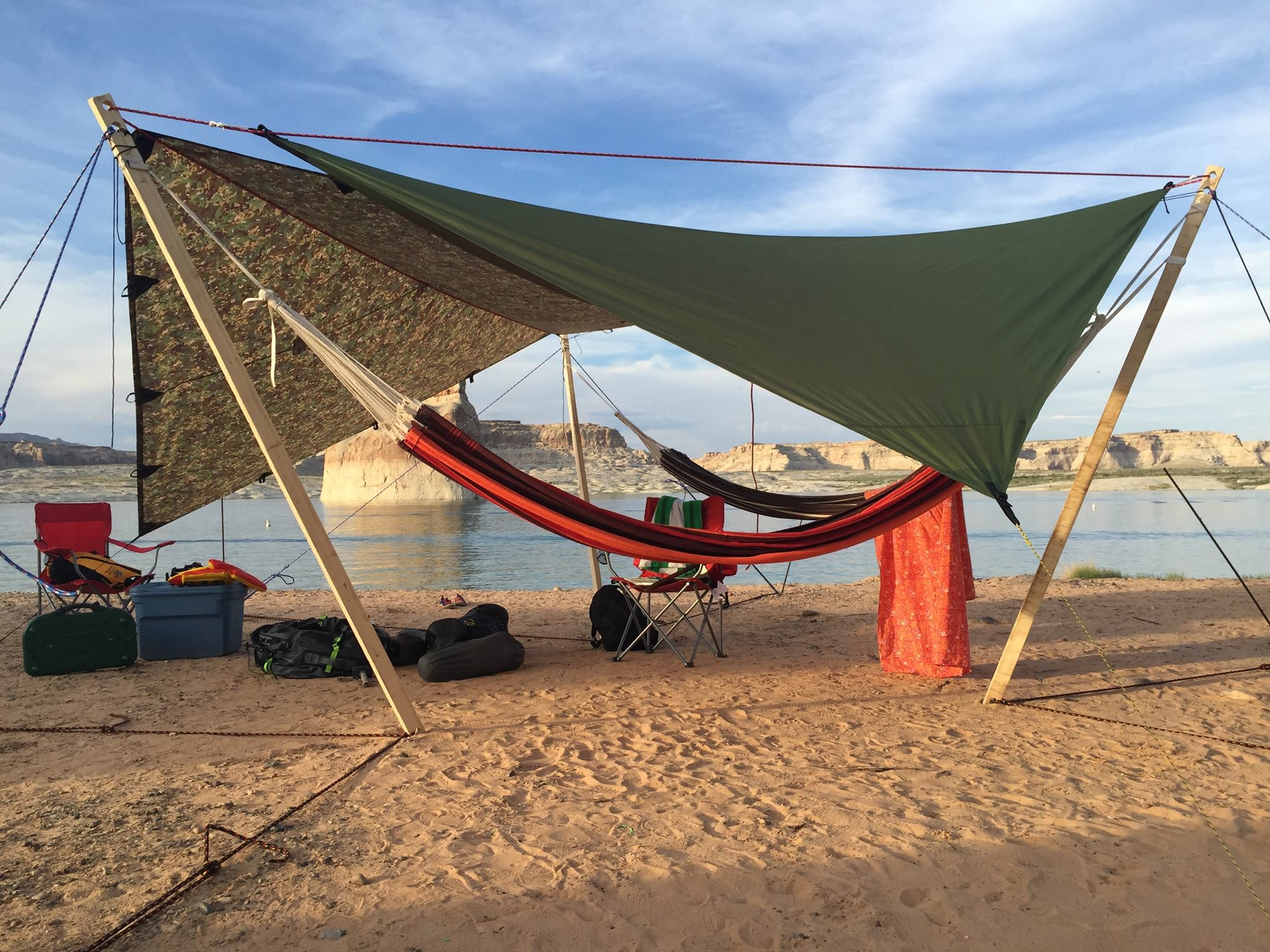 The Byer of Maine Paradiso Double Hammock on the shores of Lake Powell, Arizona.
