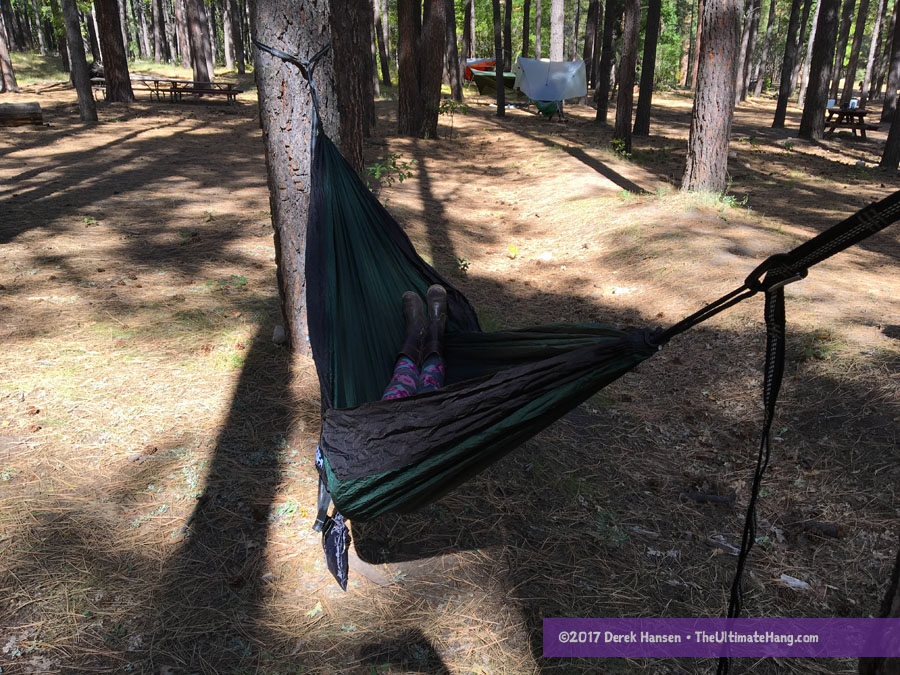 Medium image of review   tnh outdoors double camping hammock with tree straps