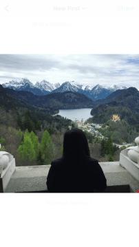 Balcony view from Neuschwanstein