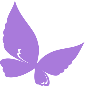 purple fibro butterfly