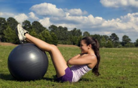 young woman exercizing