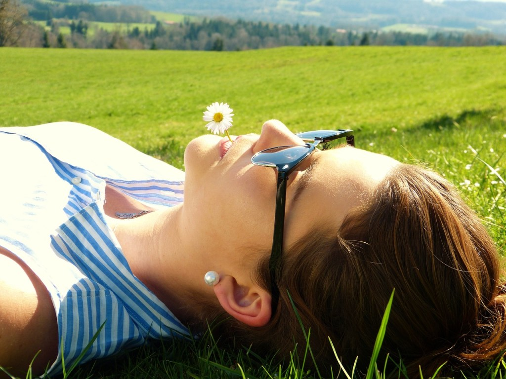 Try meditation out side to help cope with chronic illness