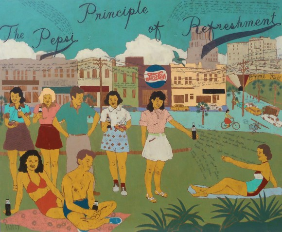 The pepsi principle of refreshment 42x48 2013 harry underwood The Evocative Art of Harry Underwood