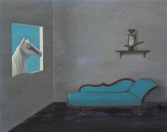 Gertrude abercrombie horse owl and chaise The Art of Gertrude Abercrombie