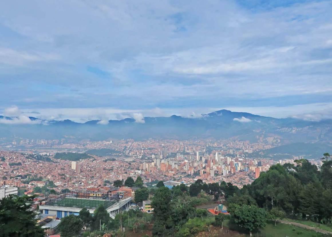 Looking down on Medellin from base of Pan de Azucar