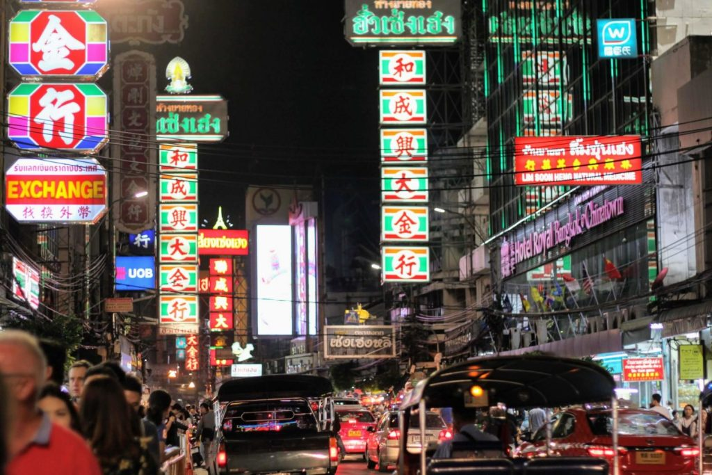 Chinatown in Bangkok, a good place for Thai street food