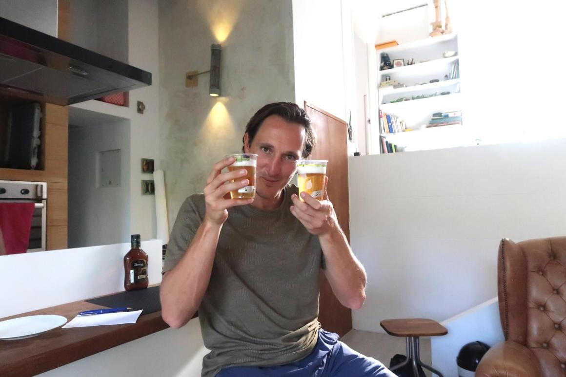 Chris Beer Blind Taste Tasting Colombia