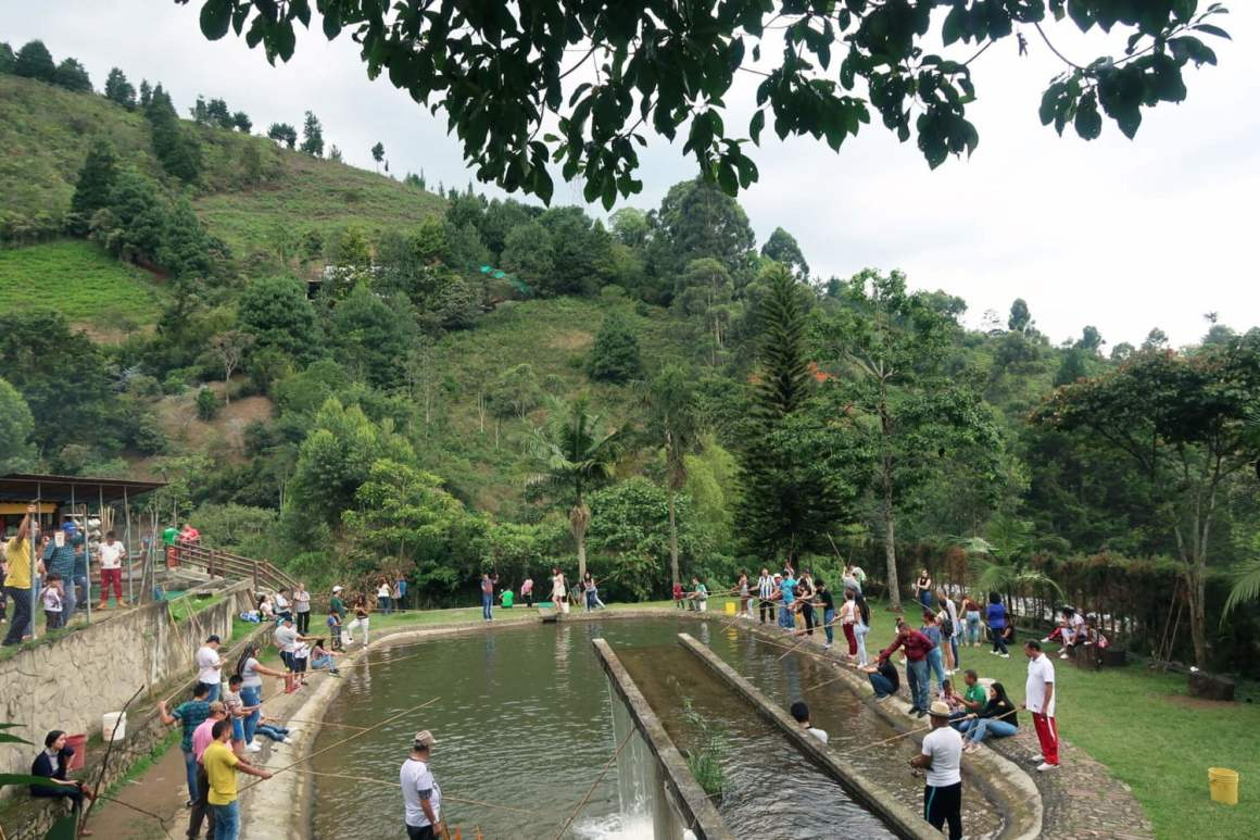 Fishing at La Truchera Arco Iris