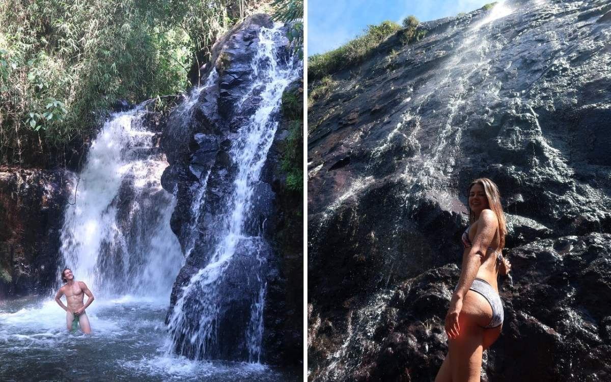 chorro de quebradona and cascada arcoiris in jerico colombia