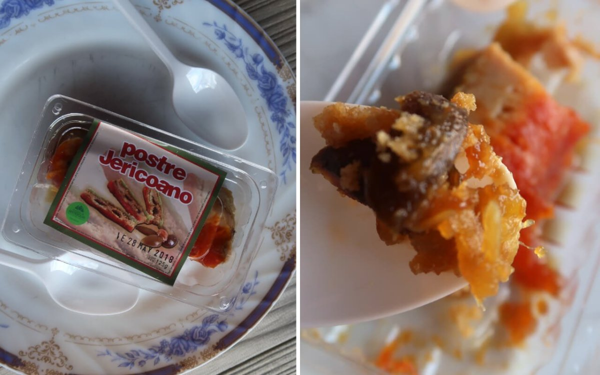 Close up of postre jericoano where to eat in jerico colombia