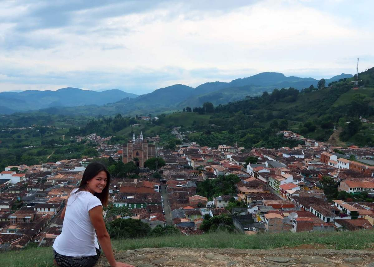 View of Jericó, Colombia from the Christo Redentor viewpoint