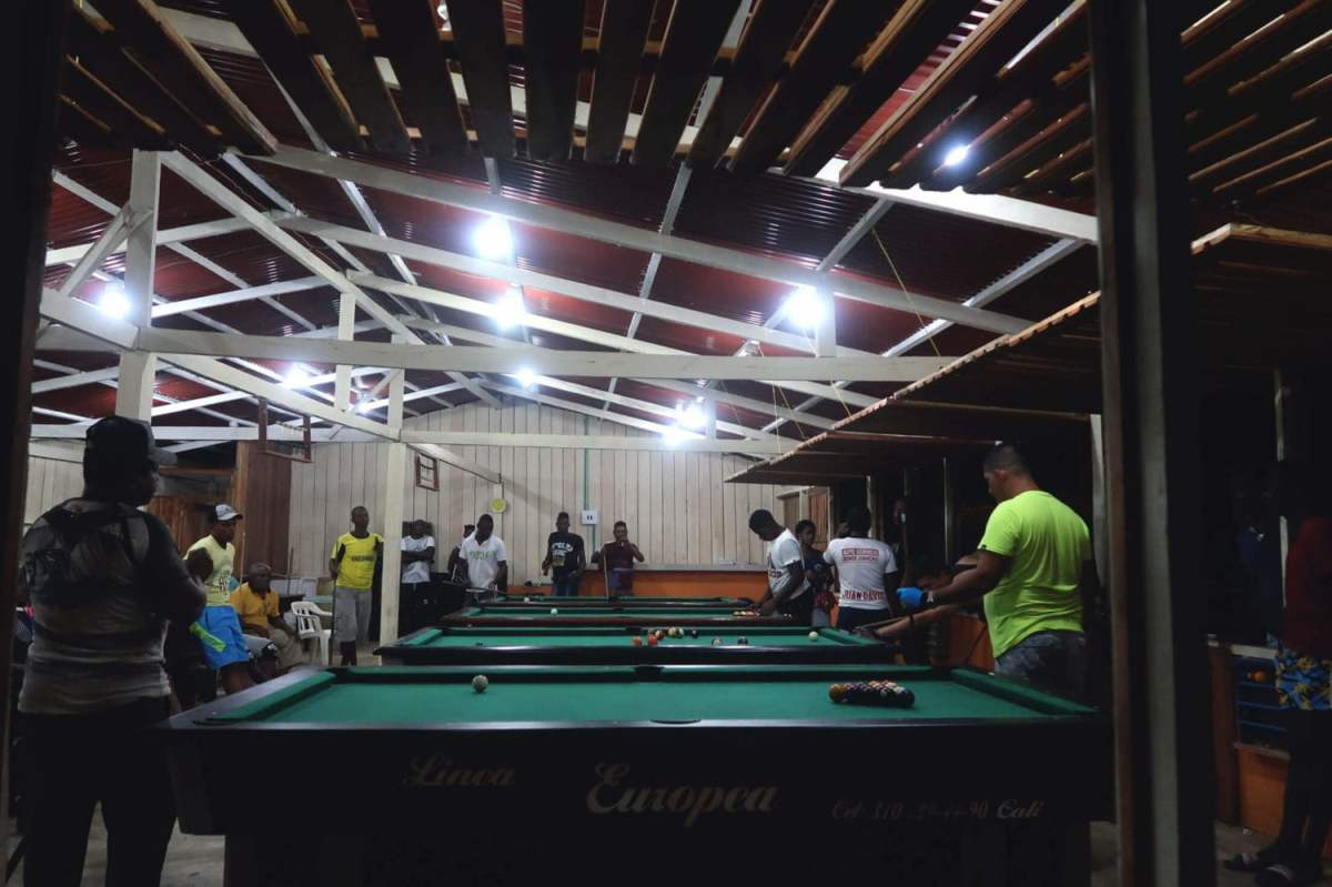 pool hall in el valle town, bahia solano colombia